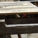 pallet board top, d-rings attached