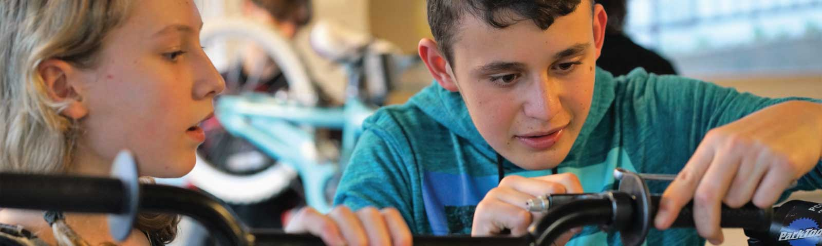 Hands on classes at Bike Works teach youth