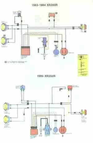 1979 Honda xr500 wiring diagram