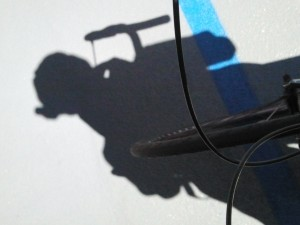Apropos of absolutely nothing, I kind of like this shadow shot from the recent Wilshire CicLAvia.