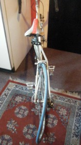 Livingston's warped bike doesn't begin to capture the extent of his injuries.