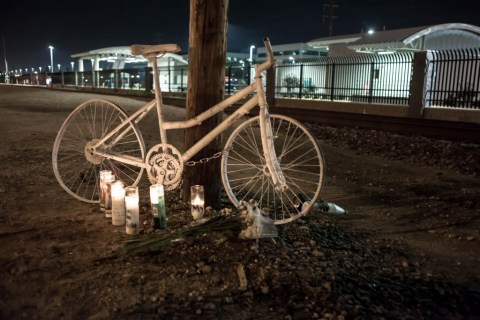 Ghost bike for Ricky Montoya; photo by Danny Gamboa