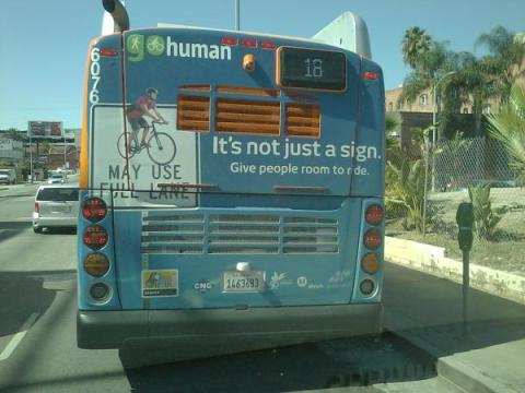 Go Human Bus End