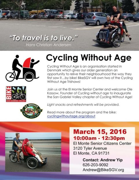 Cycling Without Age flyer