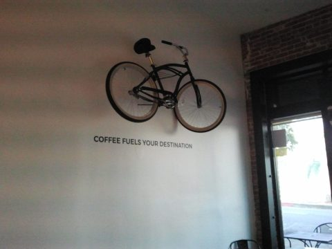 Black Bicycle Cafe Interior