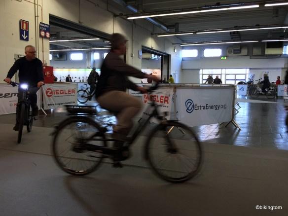 Beliebt - der Test-Parcour für E-Bikes.