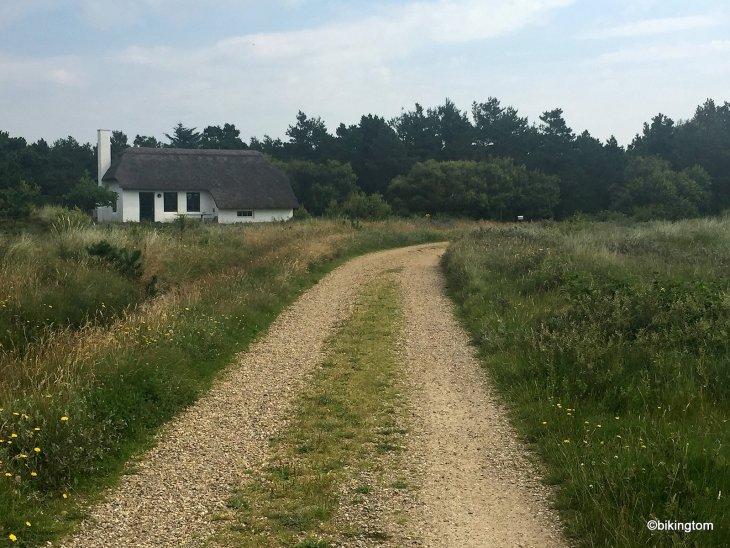bikingtom auf dem Nordseeküstenradweg in Dänemark