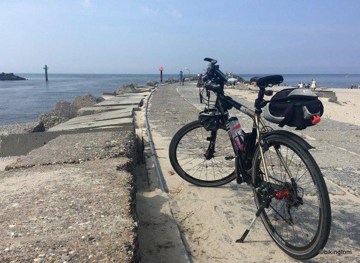 bikingtom auf dem Nordseeküstenradweg in Dänemark bei Thorsminde