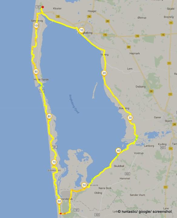 Die Tour auf der Karte
