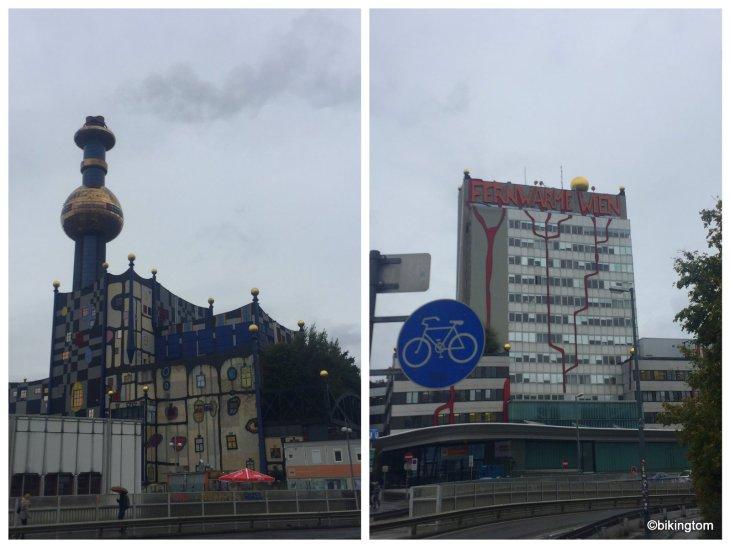 Radtour,Wien,Hundertwasser,Fernwärmekraftwerk,bikingtom