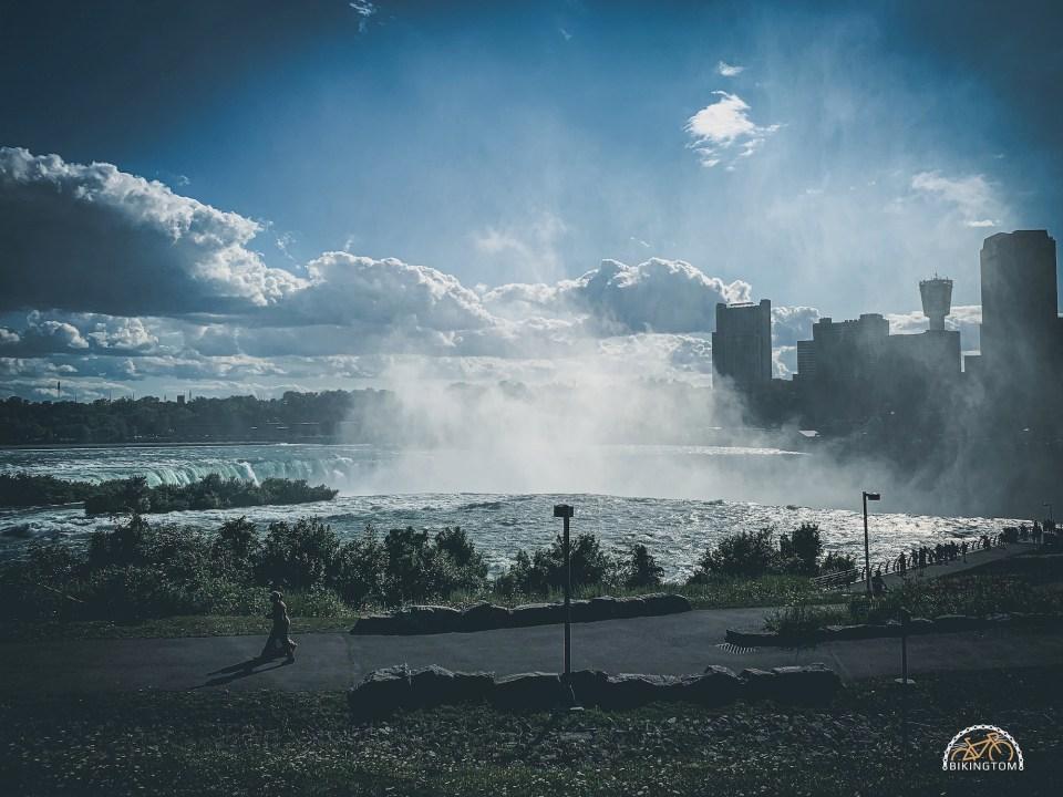 Urlaub,Radfahren,Familie,Niagarafälle