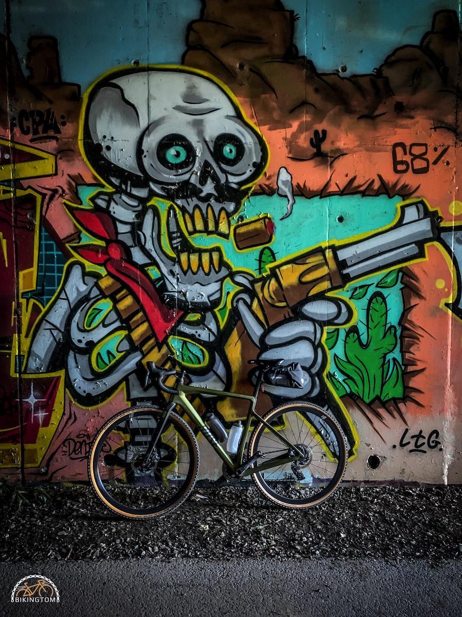 Bretagne,Radtouren,Fahrrad,Graffiti