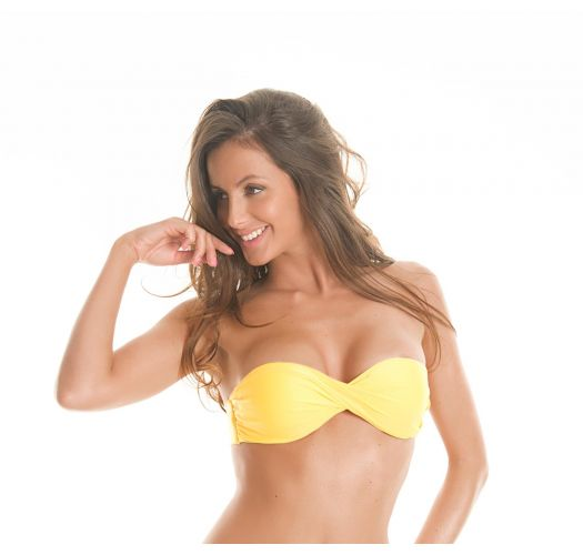 Bikini Bandeau Oberteil gelb - Soutien Tornado Ipe