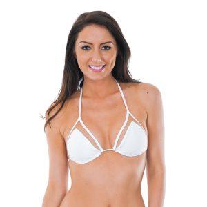 Bikini Triangel Oberteil weiß - Strappy Branco