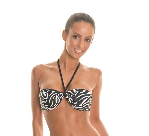 Bikini Bandeau Oberteil Zebra - Soutien Forti