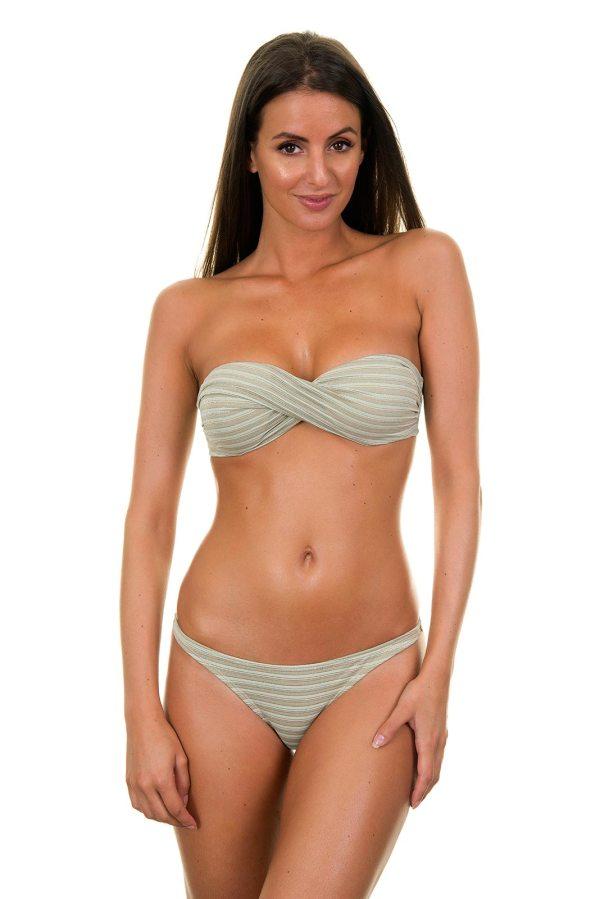 Bandeau Bikini gestreift mit Pailletten - Atenas