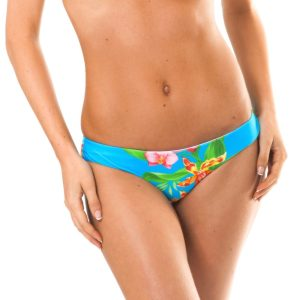 Blau geblümtes sportliches Bikinihöschen - Calcinha Aloha Tri Cheeky