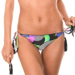 Gemusterte Scrunch Bikinihose mit Quasten - Calcinha Bossa Frufru