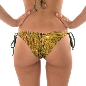 Sexy goldgemusterter Bikinislip mit Ringe - Rio de Sol