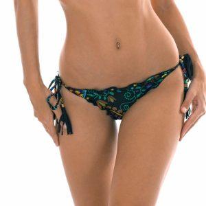 Scrunch Bikinihose mit Motiven und gewellten Rändern - Calcinha Bordado Frufru