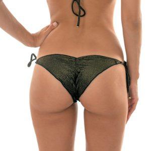 Schwarzes Lurex Sexy Bikinihöschen - Calcinha Radiante Preto Frufru