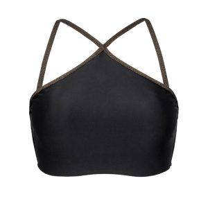 Schwarzes Crop Bikini Top Lurex - Rio de Sol