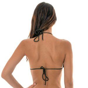 Schwarzer Lurex Triangel Bikini mit gewellten Rändern - Rio de Sol