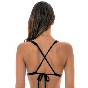 Festes Lurex Triangel Bikinitop mit Kreuzträger - Soutien Triangulo Radiante
