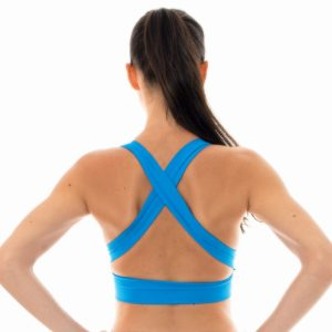 Blaues Fitness-Top Sport BH-Stil - Rio de Sol