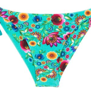 Bikinislip, geblümt mit Lurexschnur - Rio de Sol