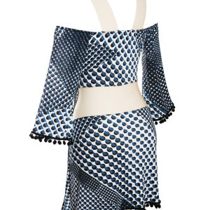 DESPI Strandkleid mit blauem transparenten Muster - New Hype