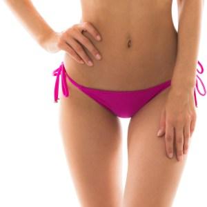 Fuchsienfarbenes Bikinihöschen mit Seitenschnüren - Bottom Amaranto Lacinho