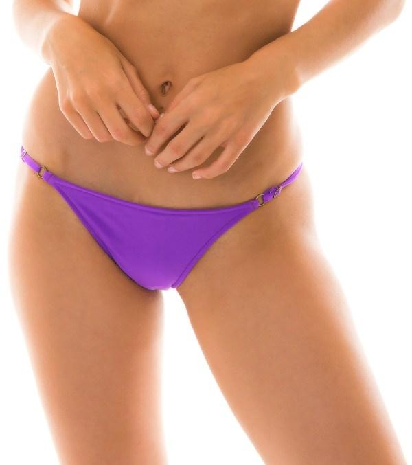 Brasilian Bikinihöschen Lila mit Accessoires - Bottom Fuchsia Lacinho