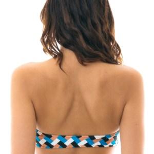 Bikini Bandeau geometrische Musterung