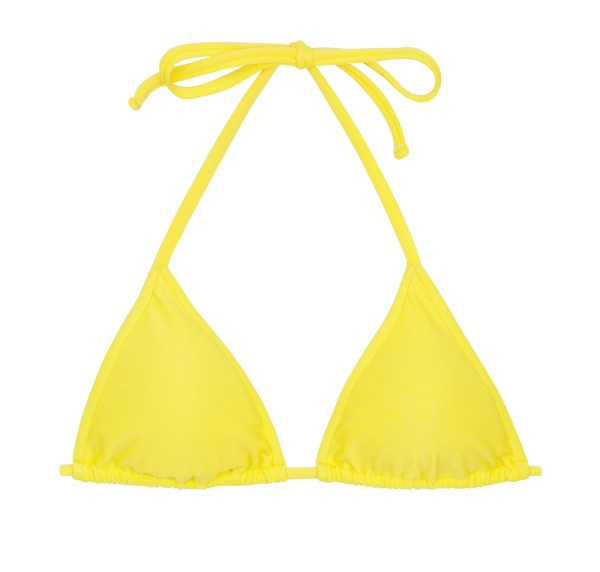 Verstellbares Triangel Bikinitop zitronengelb - Top Beach Strega Rolote
