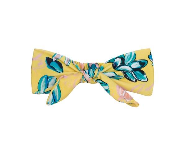 Gelb geblühmtes Haarband - Florescer Knot Headband