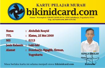 kartu pelajar murah jogja - bikinidcard.com 0899 5178 302