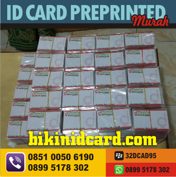 ID CARD PREPRINTED jogja