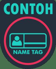 contoh name tag