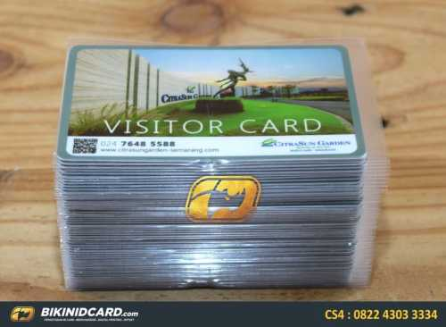 contoh id card visitor