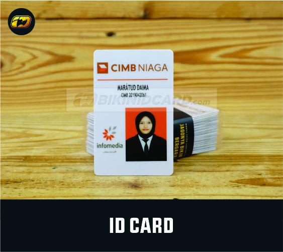 contoh id card kerja