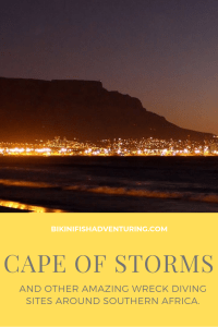 The Cape of Storms- and other amazing Wreck diving sites around Southern Africa.