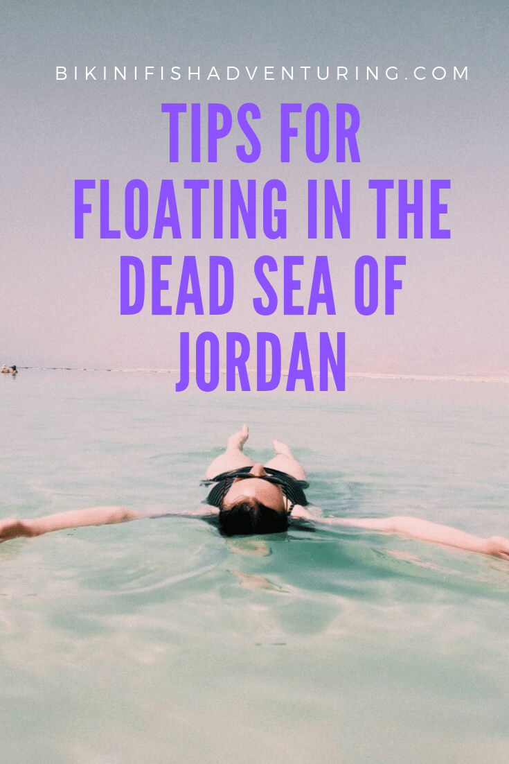 Tips for floating in the Dead Sea of Jordan