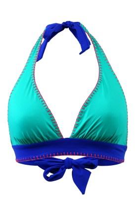 Maillot de bain Triangle Val d'Azur Rocha Azul Réversible Turquoise - Couleurs - TURQUOISE