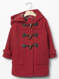 Gap Plaid Lined Duffle Coat