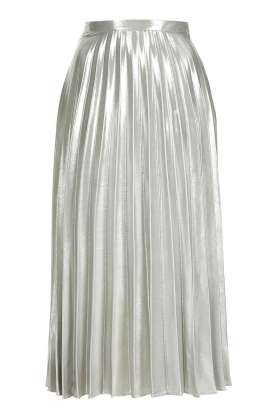 petite metallic pleated skirt