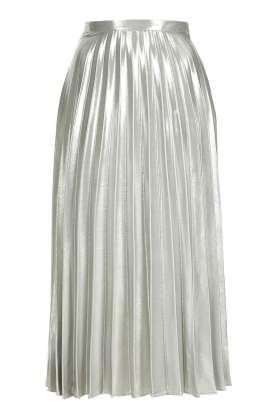petite metallic pleated skirt