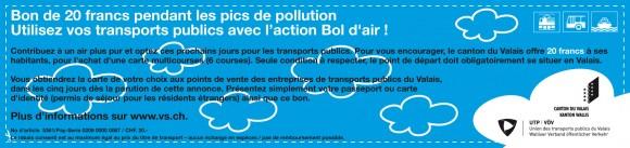 Le bon à imprimer pour bénéficier d'un rabais de 20 francs sur son titre de transport.