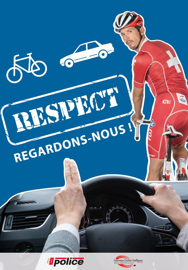 L'affiche de la campagne 2019 de la Police cantonale valaisanne.