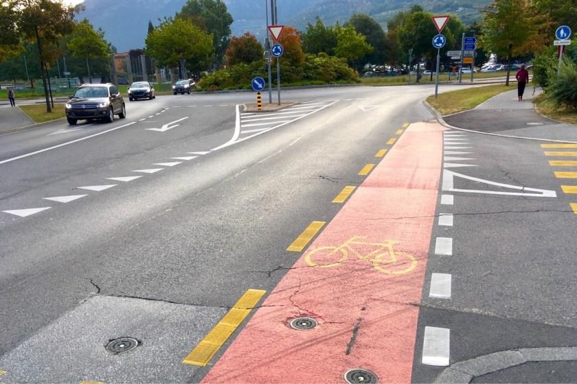 Quand de la peinture met les cyclistes en danger